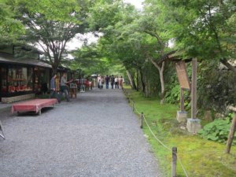 京都大原三千院門前通路