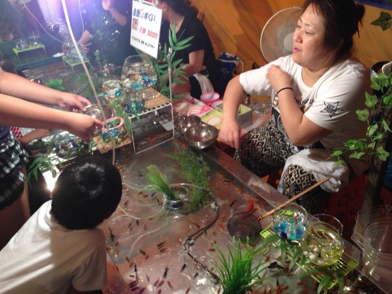 祇園祭前祭金魚すくい