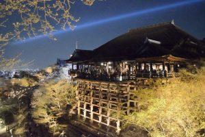 工事前の清水寺・ライトアップ