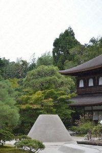 銀閣寺の向月台
