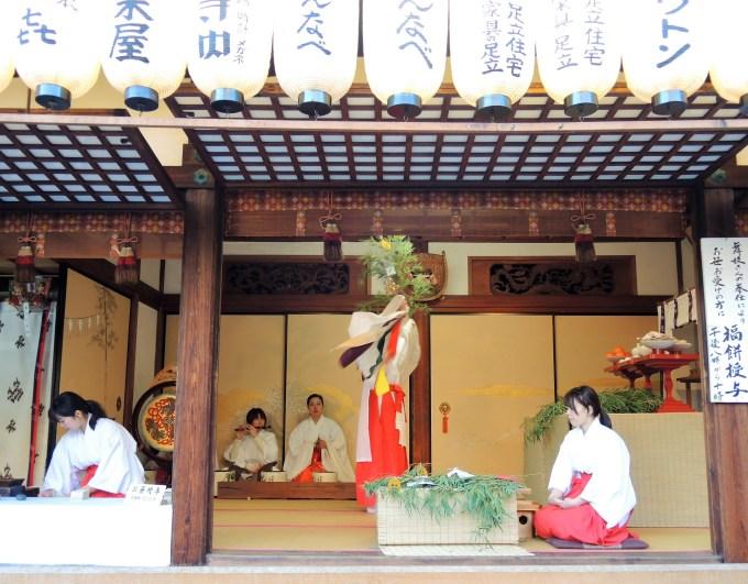 京都・ゑびす神社・十日ゑびす・巫女