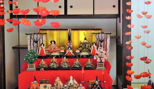 🎎 京都のお寺「法住寺」のひな祭り『つり雛』 Hinadoll Hojuji KYOTO