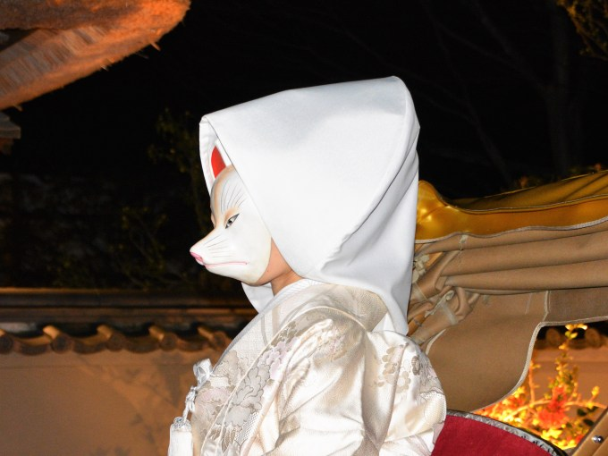 京都・東山花灯路・狐の嫁入り