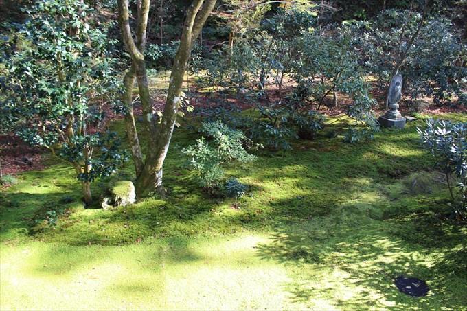 32有清園の苔とお地蔵さん