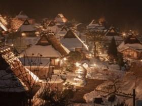 美山かやぶきの里雪灯廊