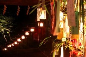 貴船神社七夕笹飾りライトアップ