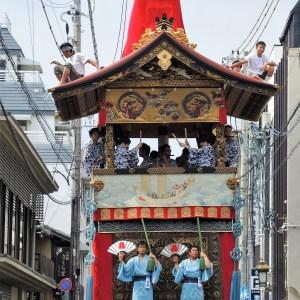 京都・祇園祭・放下鉾・曳き初め