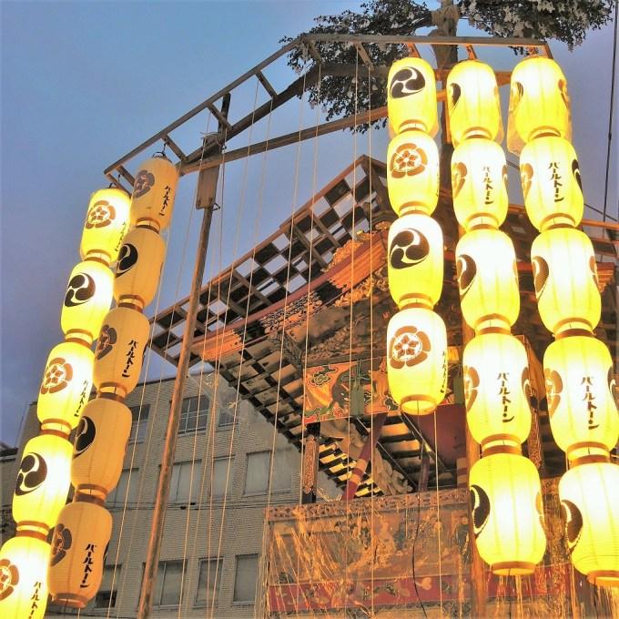 京都・祇園祭・鶏鉾・鉾建て