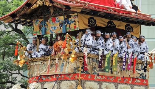 京都「祇園祭」前祭・山鉾巡行・辻回し《鶏鉾》