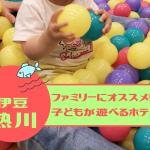 伊豆 熱川 子連れ 家族 お勧め 宿泊先 ホテルカターラ キッズルーム
