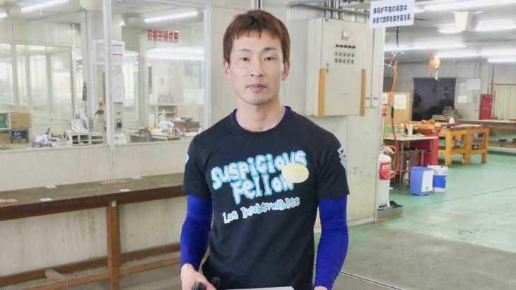 土屋智則選手のTOP画像です。