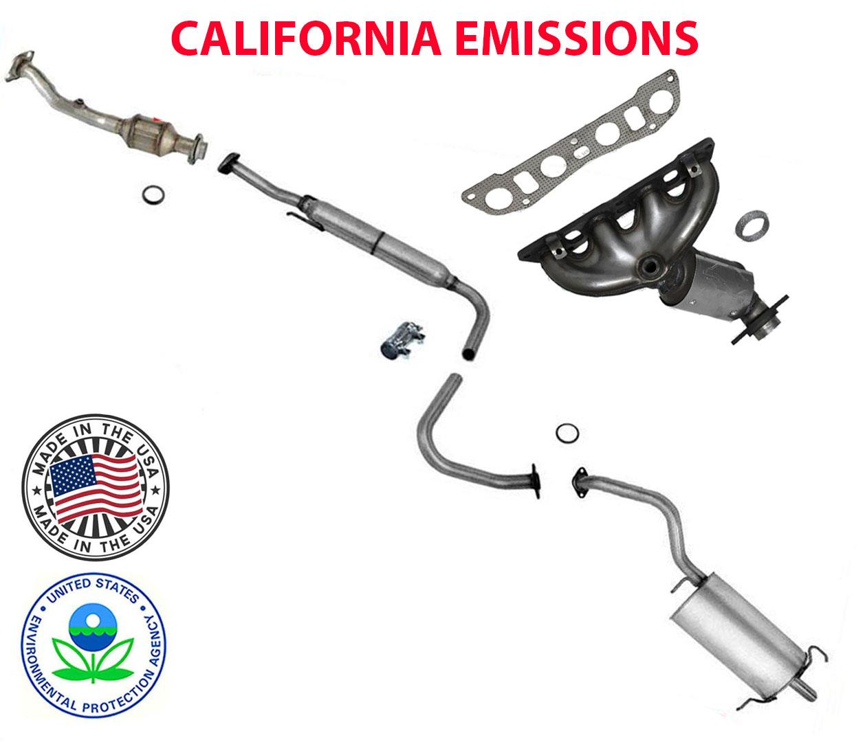 complete exhaust system fits nissan