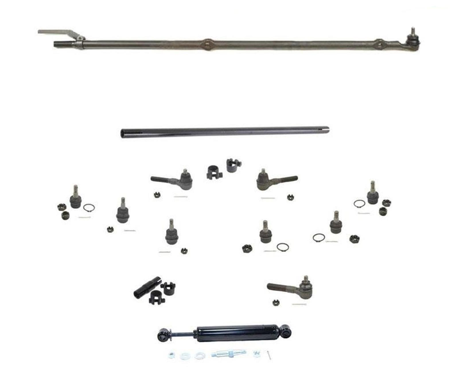 Drag Link Tie Rod Rods Track Bar 13pc Kit Fits For Jeep