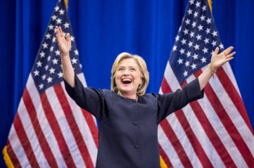 Hillary Clinton wins the 2016 election by a narrow margin, becoming the first female President of the united States