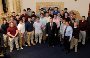 Senate Democratic Floor Leader Ray S. Jones II, D-Pikeville, honored the Pikeville High School Panthers Football Team on winning the 2015 KHSAA Class 1A State Championship title.