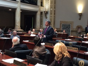 Senate Democratic Floor Leader Ray S. Jones, D-Pikeville, today spoke on the Senate floor regarding the OxyContin litigation pursued by the Attorney General's office and the importance of protecting the civil justice system so that corporate wrongdoers can be held accountable.
