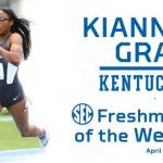 UK Track & Field's Kianna Gray Named SEC Freshman of the Week
