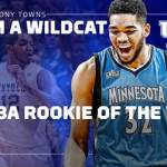 Former Wildcat Karl-Anthony Towns Named NBA Rookie of the Year