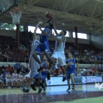 Dunks on Indiana defenders in All Star game