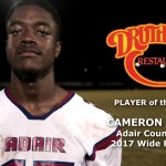 Cameron Lasley – 2016 HS Football WK 1 Player of the Game