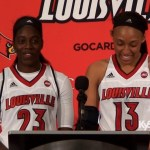 Louisville WBB Jazmine Jones & Cortnee Walton on 83-30 win over South Dakota State