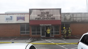 Fire on campus soccer facility