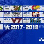 UK Men's Basketball Unveils 2017-18 Nonconference Schedule