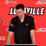 UofL Cardinals Coach David Padgett after WIN in 2017-18 Season Opener vs George Mason