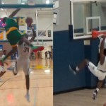 Kendrick Curry vs Skyelar Potter DUNK Contest