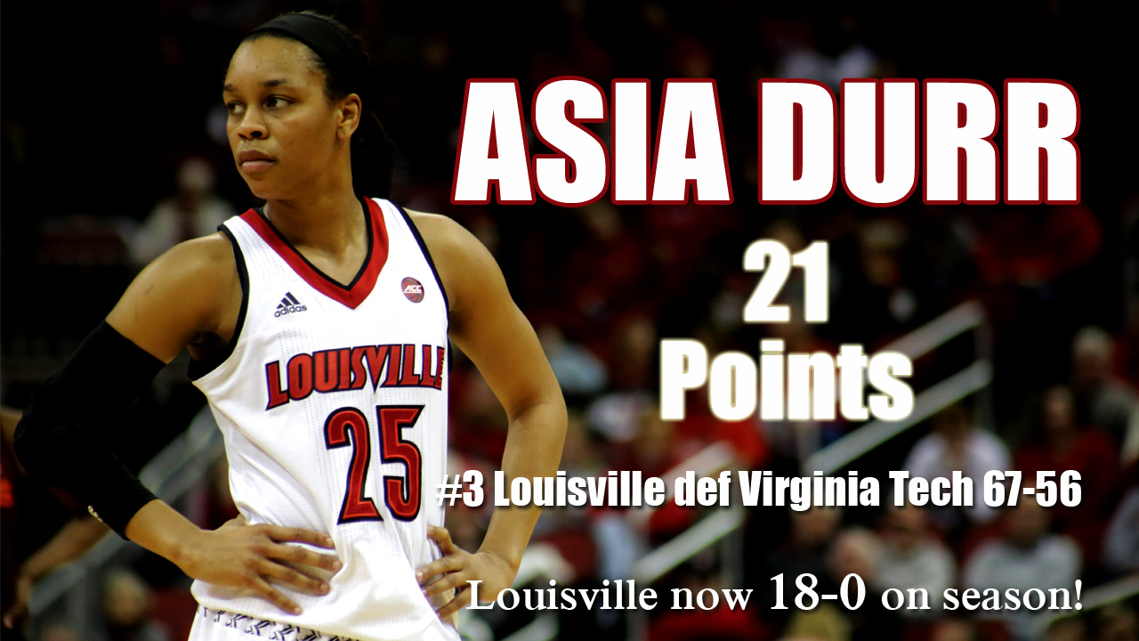 Louisville Wbb Asia Durr Named To John R Wooden Award Late Season