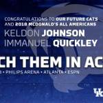 UK MBB Recruits Johnson, Quickley Selected for McDonald's All American Game