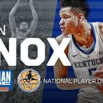 UK MBB's Knox Sweeps USBWA Awards, Wins National Player of the Week