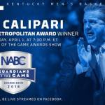 UK MBB Calipari to Receive NABC Metropolitan Award at Final Four on Sunday