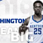 UK MBB's Washington Tabbed to NABC All-District First Team
