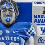 UK Football's Benny Snell Jr. Named to Maxwell Award Semifinalist