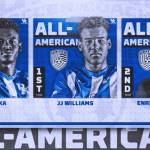 UK MSOC's Williams, Facusse & Mabika Named Men's Soccer All-Americans