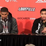 UofL MBB Malik Williams & Christen Cunningham on WIN vs Notre Dame