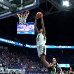 UofL Basketball Signee David Johnson gets a Pair of SLAM DUNKS in Sweet 16