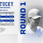 UK MGOLF Mehles' Back Nine Lifts Kentucky on Day One at NCAA Regional