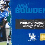 UK Football Lynn Bowden Jr. Earns Paul Hornung Award Weekly Honor Roll