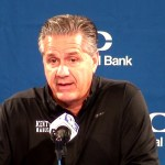 UK Wildcats MBB Coach Cal on Blue White Game