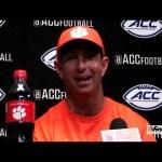 Clemson Football Coach Dabo Swinney on 45-10 WIN vs Louisville