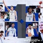 Kentucky Men's Basketball Ranked No. 1 in AP Top 25