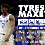Tyrese Maxey Drops 26 Points For #2 UK in Upset WIN vs #1 Michigan State
