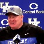 Kentucky Football Coach Mark Stoops on WIN vs Louisville