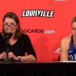 Duke WBB Coach McCallie & H. Gorecki on LOSS to #7 Louisville
