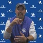 UK Football DC Coach Brad White Previews South Carolina