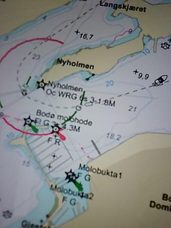 Kartet viser Bodø