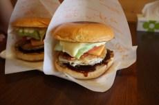 完成的漢堡包,非常好吃!
