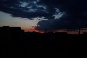 秋天黃昏時的風景